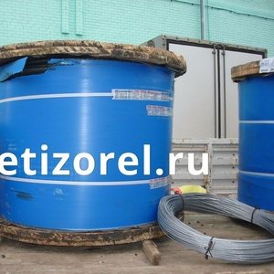 Канат стальной ГОСТ 7667-80 двойной свивки типа ЛК-З конструкции 6х25